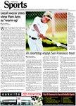 A's shortstop enjoys San Francisco treat : all-around talent