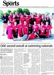 OAK second overall at swimming nationals
