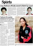 Taekwon-Do paying dividends for local teen: Rupinder Rai wins four medals at worlds, says sport has built her self-confidence
