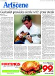 Guitarist provides sizzle with your steak