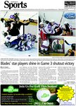 Blades' star players shine in Game 3 shutout victory