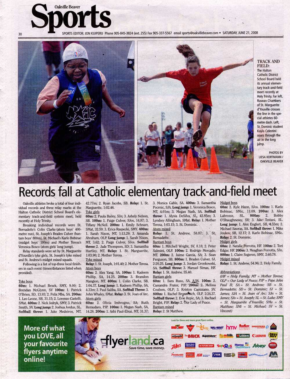 Records fall at Catholic elementary track-and-field meet