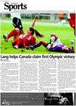 Lang helps Canada claim first Olympic victory