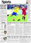 Canada to face U.S. in soccer quarter-final