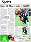 Kicker lifts Titans to junior football title
