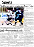Legein rediscovers passion for hockey