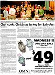 Chef cooks Christmas turkey for Sally Ann