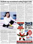 Students say recreational curling league rocks: Less competitive atmosphere helps introduce high schoolers to the sport, learn