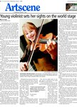 Young violinist sets her sights on the world stage