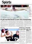 OT girls lead Red Devils to swim meet championship ; winning form