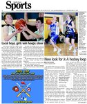 Local boys, girls win hoops silver