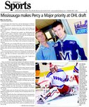 Missauga makes Percy a Major priority at OHL draft