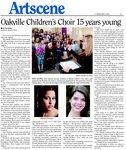 Oakville Children's Choir 15 years young