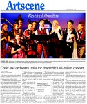 Choir and orchestra unite for ensemble's all-Italian concert