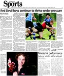 Red Devil boys continue to thrive under pressure
