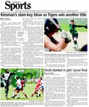 Kinsman's slam key blow as Tigers win another title