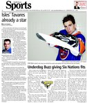 Isles' Tavares already a star