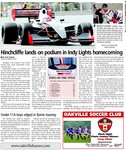 Hinchcliffe lands on podium in Indy Lights homecoming