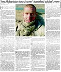 Two Afghanistan tours haven't tarnished soldier's view