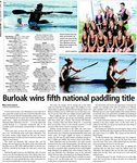 Burloak wins fifth national paddling title