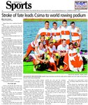Stroke of fate leads Csima to world rowing podium
