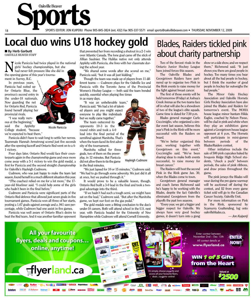 Local duo wins U18 hockey gold