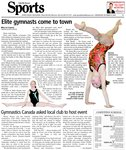Elite gymnasts come to town