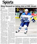 Hisey focused on taking shot at NHL dream