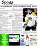 Strong rookie OHL season has Alderson getting noticed