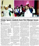 Gladys Speers students learn first Olympic lesson