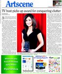 TV host picks up award for conquering clutter