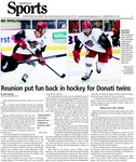 Reunion put fun back in hockey for Donati twins