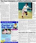Two local champions at Halton badminton meet