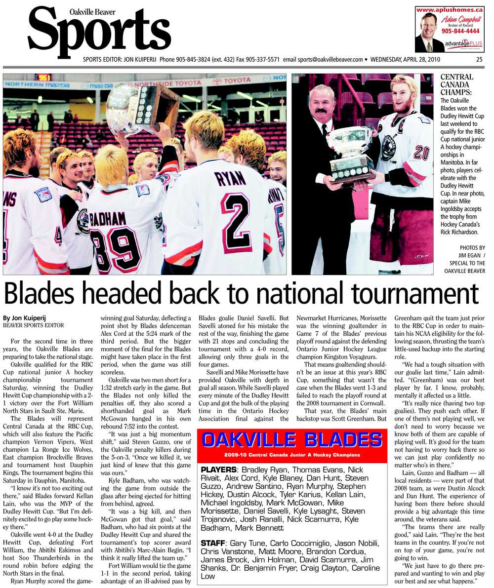 Blades headed back to national tournament