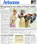 Bring food to see Anne of Green Gables