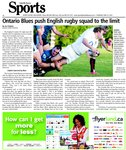 Ontario Blues push English rugby squad to the limit