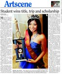 Student wins title, trip and scholarship