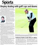 Shepley dealing with golf's ups and downs