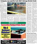 Company says pipeline leak didn't damage Bronte Creek