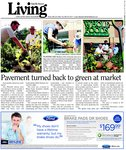 Pavement turned back to green at market