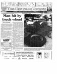 Man hit by truck wheel