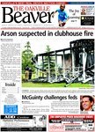 Arson suspected in clubhouse fire