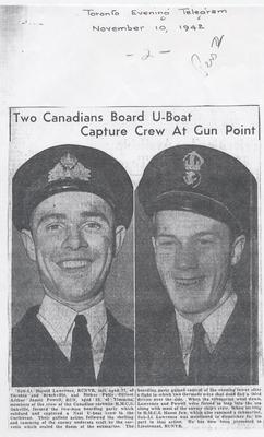 Two Canadians board U-Boat, capture crew at gunpoint