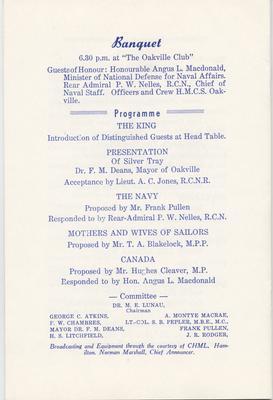 HMCS Oakville Christening Ceremony Program - page 9