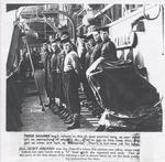 Cleaning crew aboard HMCS Oakville