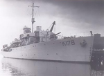 HMCS Oakville in Lunenburg N.S. while in refit immediately after V.E. Day