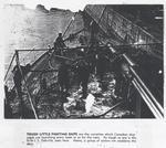 Sailors scrubbing HMCS OAKVILLE deck