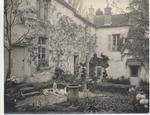Juliet Chisholm's courtyard in her French residence