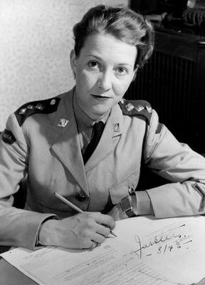 Agnes Forster, Captain, Canadian Women's Army Corps. Courtesy the Oakville Museum.