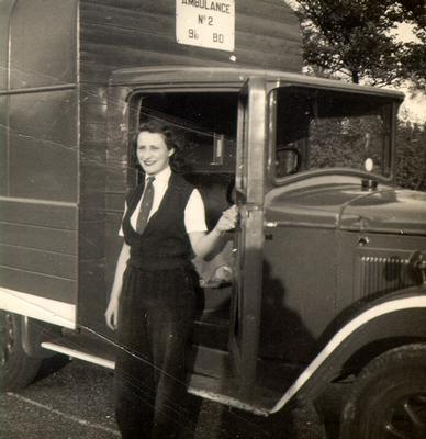 Audrey Johnson, ambulance driver during Second World War